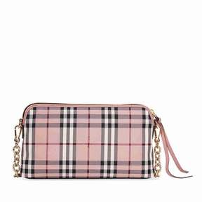 Burberry Overdyed Horseferry Check Leather Clutch - Ash Rose/Dusty Pink - ONE COLOR - STYLE