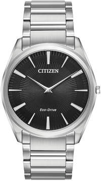 Citizen Eco-Drive Men's Stiletto Stainless Steel Bracelet Watch 38mm