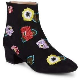Betsey Johnson Floral Textile Booties