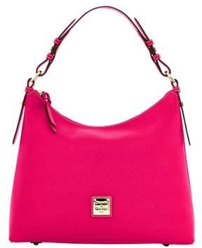 Dooney & Bourke Saffiano Hobo Shoulder Bag - HOT PINK - STYLE