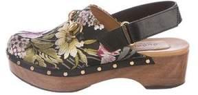 Gucci Amstel Floral Clogs