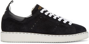 Golden Goose Deluxe Brand Black and White Suede Starter Sneakers