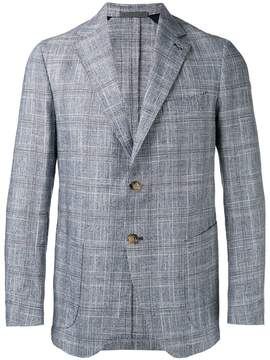 Eleventy checked slim-fit blazer