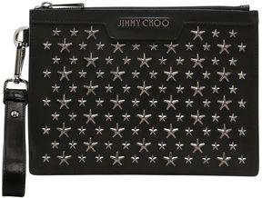 Jimmy Choo Stars Studs Leather Mini Pouch
