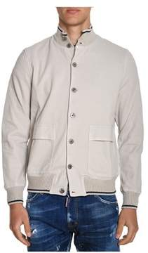 H953 Men's Beige Cotton Jacket.