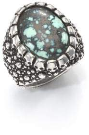 King Baby Studio Stingray Turquoise & Sterling Silver Ring