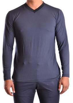 Armani Collezioni Men's Blue Viscose Sweater.