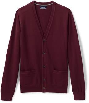Lands' End Lands'end Men's Classic Fit Supima Cotton Cardigan Sweater