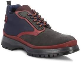 Prada Suede & Nylon Hiking Boots