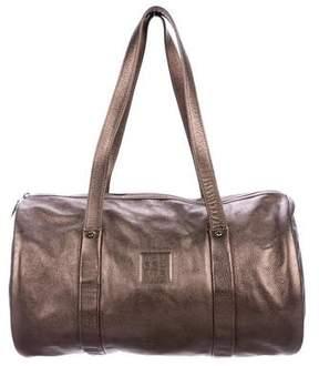 Longchamp Metallic Leather Duffle Bag