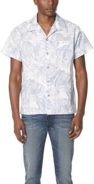 Naked & Famous Denim Tropical Leaves Shirt