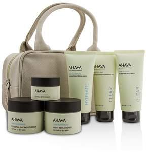 Ahava Hydrating Beauty Case Set: Cleansing Gel 100ml+Mud Mask 100ml+Cream Mask 100ml+Day 50ml+Night 50ml+Eye Cream 15ml+Bag