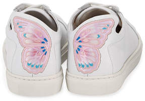 Sophia Webster Bibi Butterfly Low-Top Leather Sneakers, White