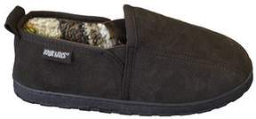 Muk Luks Men's Double Gore Printed Berber Suede Slip On