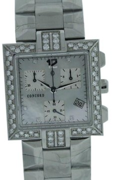Concord La Scala Mother of Pearl Chronograph Watch