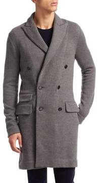 Ralph Lauren Slim Fit Double-Breasted Wool & Cashmere Coat
