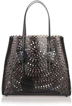 Alaïa Black leather cut-out bag
