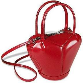 Fontanelli Italian Polished Leather Heart Bag