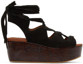See by Chloe Black Suede Liana Sandals