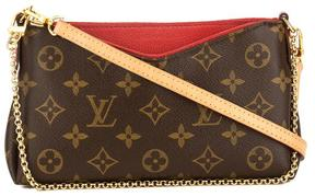 Louis Vuitton Cherry Monogram Canvas Pallas Clutch - BROWN - STYLE