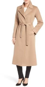 Fleurette Women's Notch Collar Long Cashmere Wrap Coat
