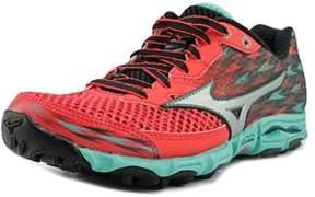 Mizuno Wave Hayate 2 Women Round Toe Synthetic Red Running Shoe.