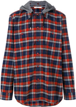 Givenchy hooded checked shirt