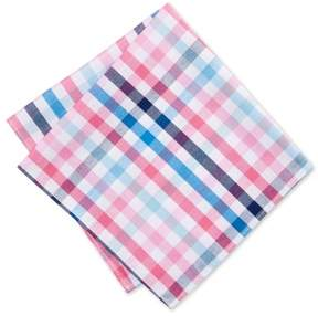 Tommy Hilfiger Mens Plaid Pocket Square Pink One Size