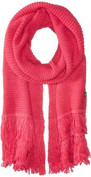 Echo Solid Fringy Muffler Scarves