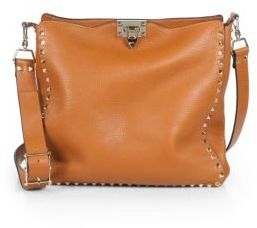 VALENTINO GARAVANI Rockstud Utilitarian Medium Leather Crossbody Bag