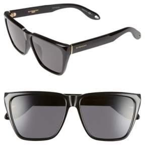 Givenchy Women's 58Mm Flat Top Sunglasses - Black/ Grey