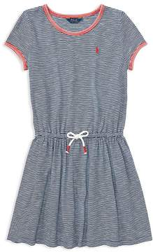 Polo Ralph Lauren Girls' Striped T-Shirt Dress - Big Kid
