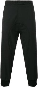 Neil Barrett black drop crotch track pants