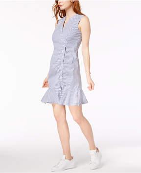 Bar III Asymmetrical Ruffled Shirtdress, Created for Macy's