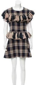 Au Jour Le Jour Wool Patterned Dress w/ Tags
