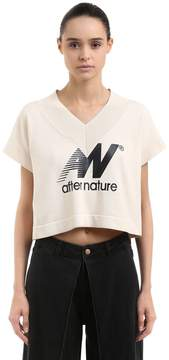 Aalto After Nature Print Cotton Crop Top