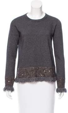 D-Exterior D. Exterior Sequin-Accented Sweater