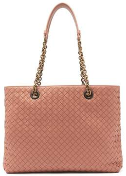 Bottega Veneta Intrecciato Medium Leather Tote - Womens - Nude