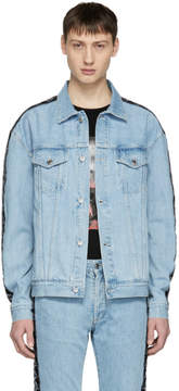 Marcelo Burlon County of Milan Blue Kappa Edition Denim Jacket