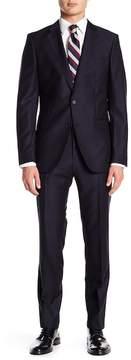HUGO BOSS Novan Woven Notch Collar Flat Front Pants 2-Piece Suit