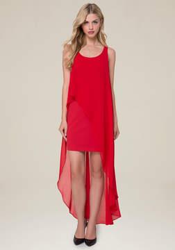 Bebe Hi-Lo Overlay Dress