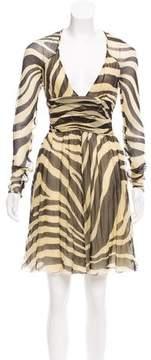 Alessandro Dell'Acqua Printed Silk Dress