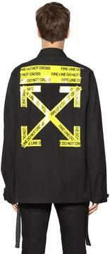 Off-White Fire Line Tape Cotton Canvas Jacket