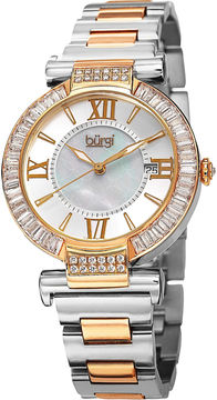 Burgi Unisex Two Tone Bracelet Watch-B-082tt