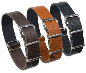 Dakota 18mm One Strap, Italian Leather Shrunken Tan