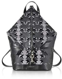 Jimmy Choo Men's Black Fabric Backpack.