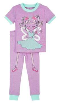 Petit Lem Little Girl's & Girl's Two-Piece Fairy Pajama Set