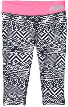 Puma Girls 4-6x Geometric Capri Leggings