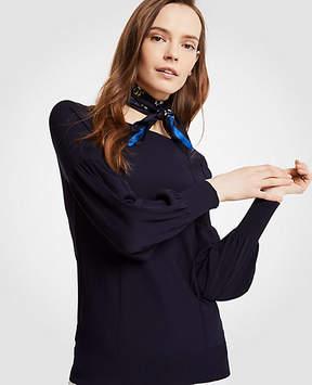 Ann Taylor Lacy Lantern Sleeve Sweater