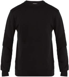 Balmain Biker cotton-jersey sweater